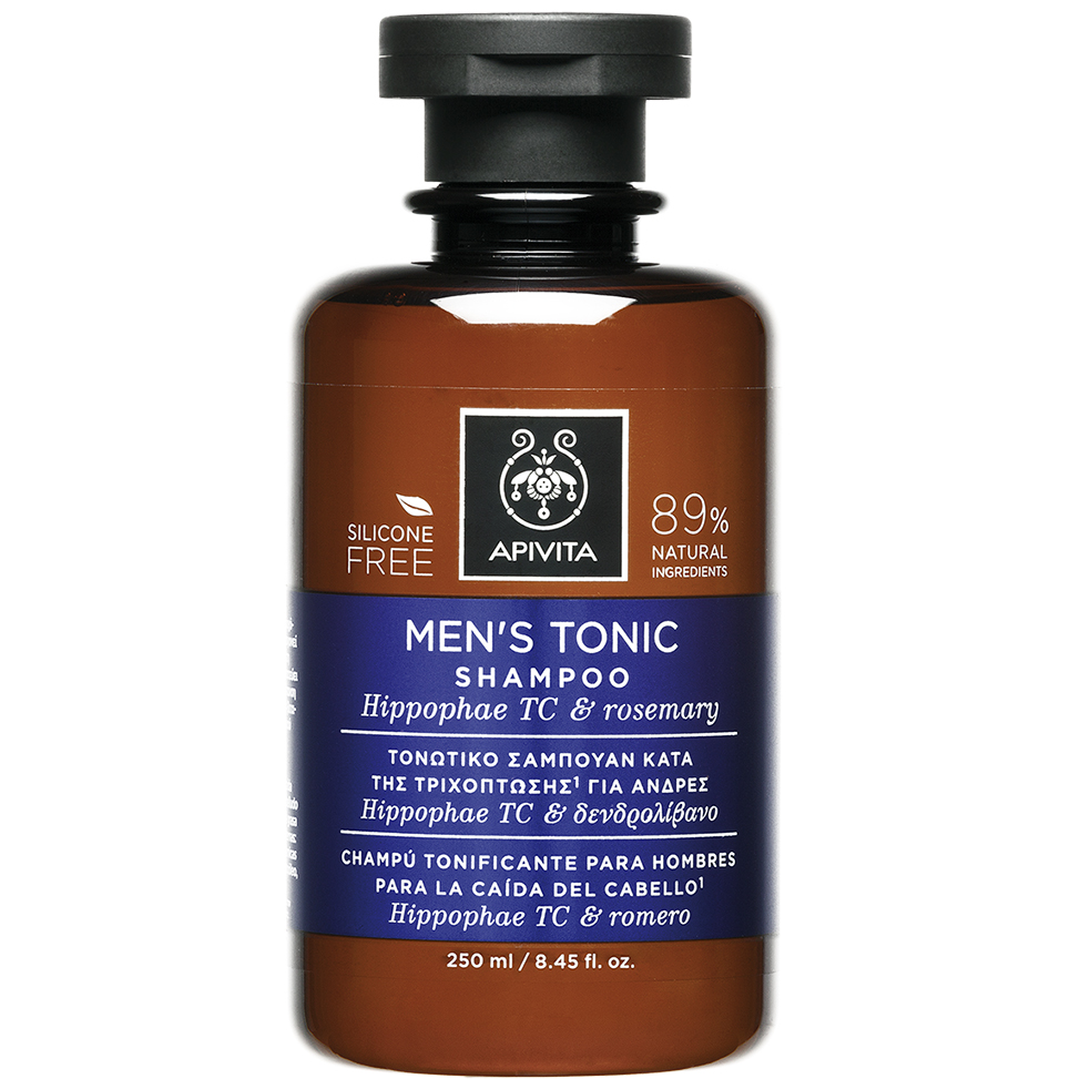 APIVITA Mens Tonic Shampoo,Τονωτικό Σαμπουάν Κατά Της Τριχόπτωσης Για Άνδρες - 250ml