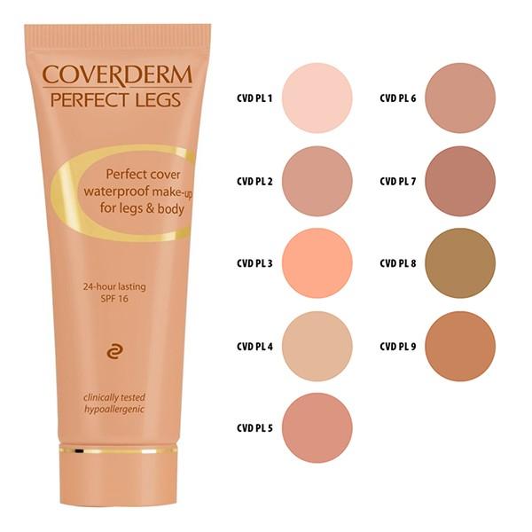 COVERDERM Perfect Legs no 6, Αδιάβροχο Make-Up για Πόδια και Σώμα, SPF16 - 50ml