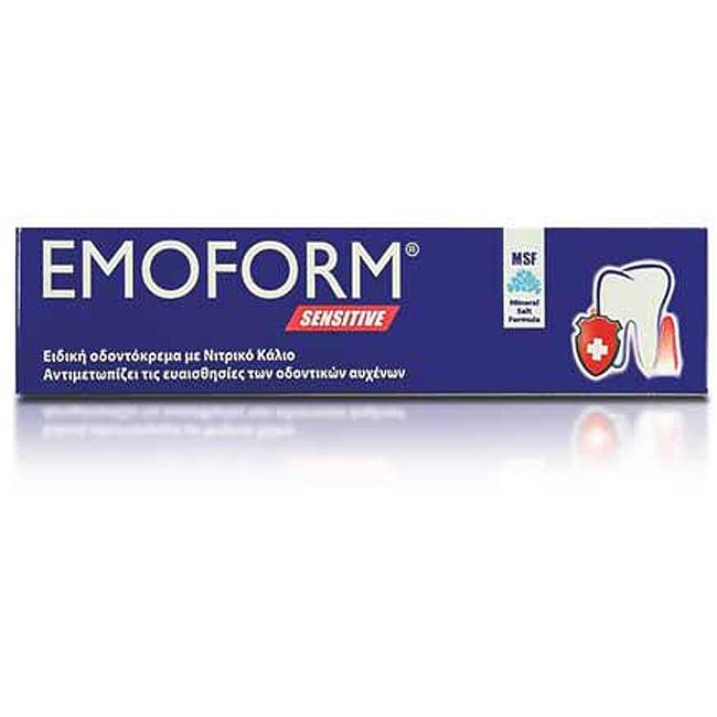 EMOFORM Sensitive Οδοντόκρεμα για Ευαίσθητους Οδοντικούς Αυχένες 50g