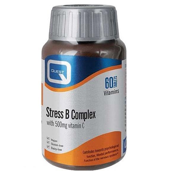 QUEST Stress B Complex, Plus 500mg Vitamin C - 60tabs