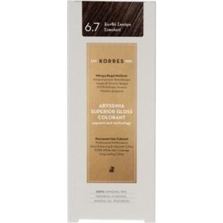 KORRES Βαφή Μαλλιών Abyssinia Superior Gloss Colorant Ξανθό Σκούρο Σοκολατί 6.7 50ml