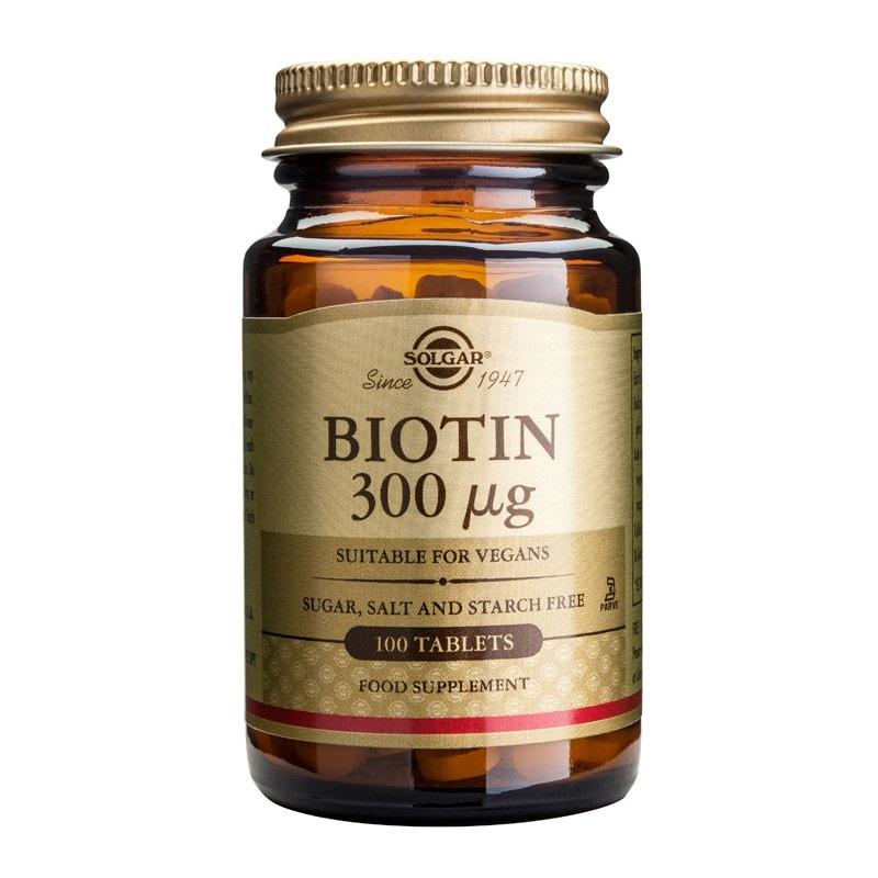 SOLGAR Biotin 300μg - 100tabs