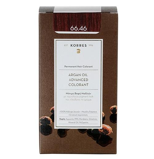 KORRES Βαφή Argan Oil 66.46 Έντονο Κόκκινο Βουργουνδίας - 50ml