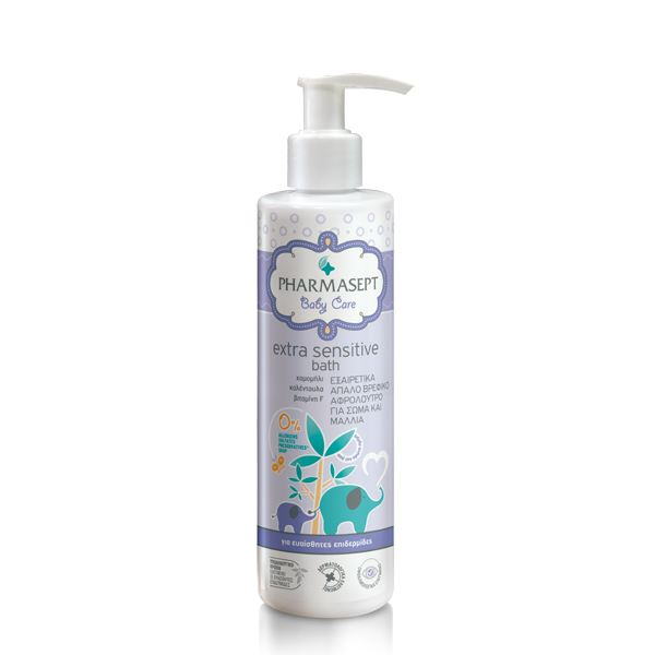PHARMASEPT Baby Extra Sensitive Bath, Βρεφικό Αφρόλουτρο - 250ml