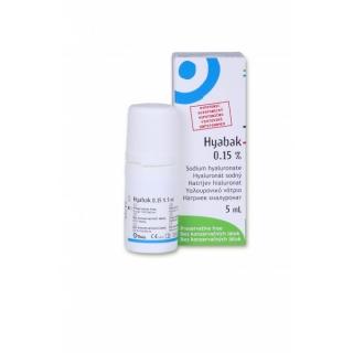 ΤΗΕΑ Hyabak Solution 0.15%, Οφθαλμικές Σταγόνες - 5ml