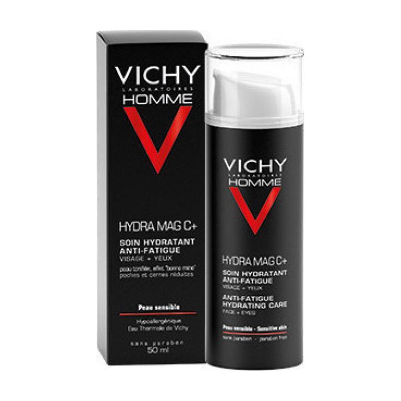 VICHY Homme Hydra  Mag C+ Κρέμα Προσώπου για Ευαίσθητες Επιδερμίδες 50ml