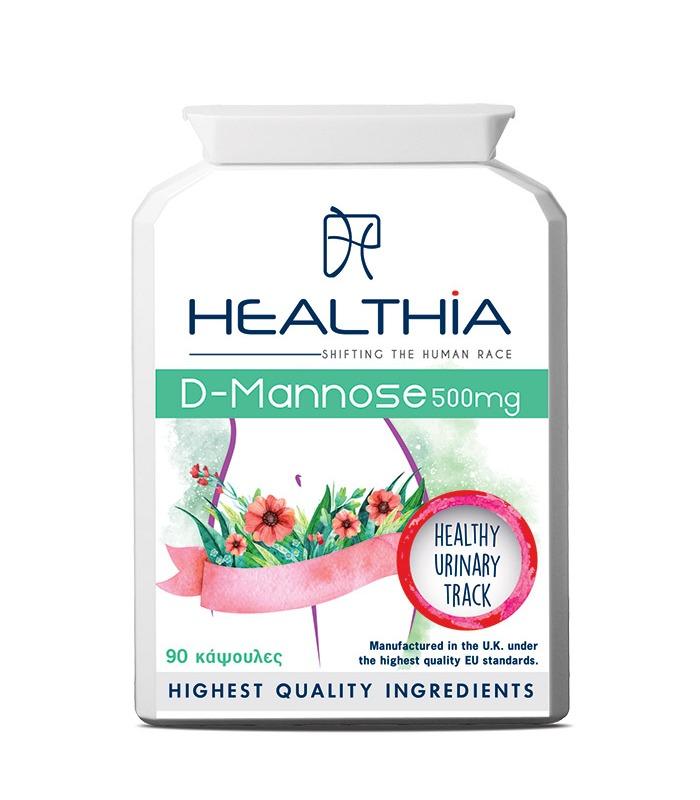 HEALTHIA D-Mannose 500mg - 90tabs