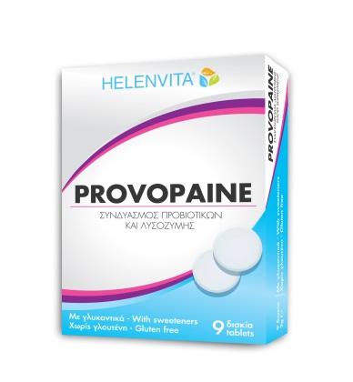 HELENVITA Provopaine, Συμπλήρωμα με Συνδυασμό Προβιοτικών & Λυσοζύμης - 9tabs