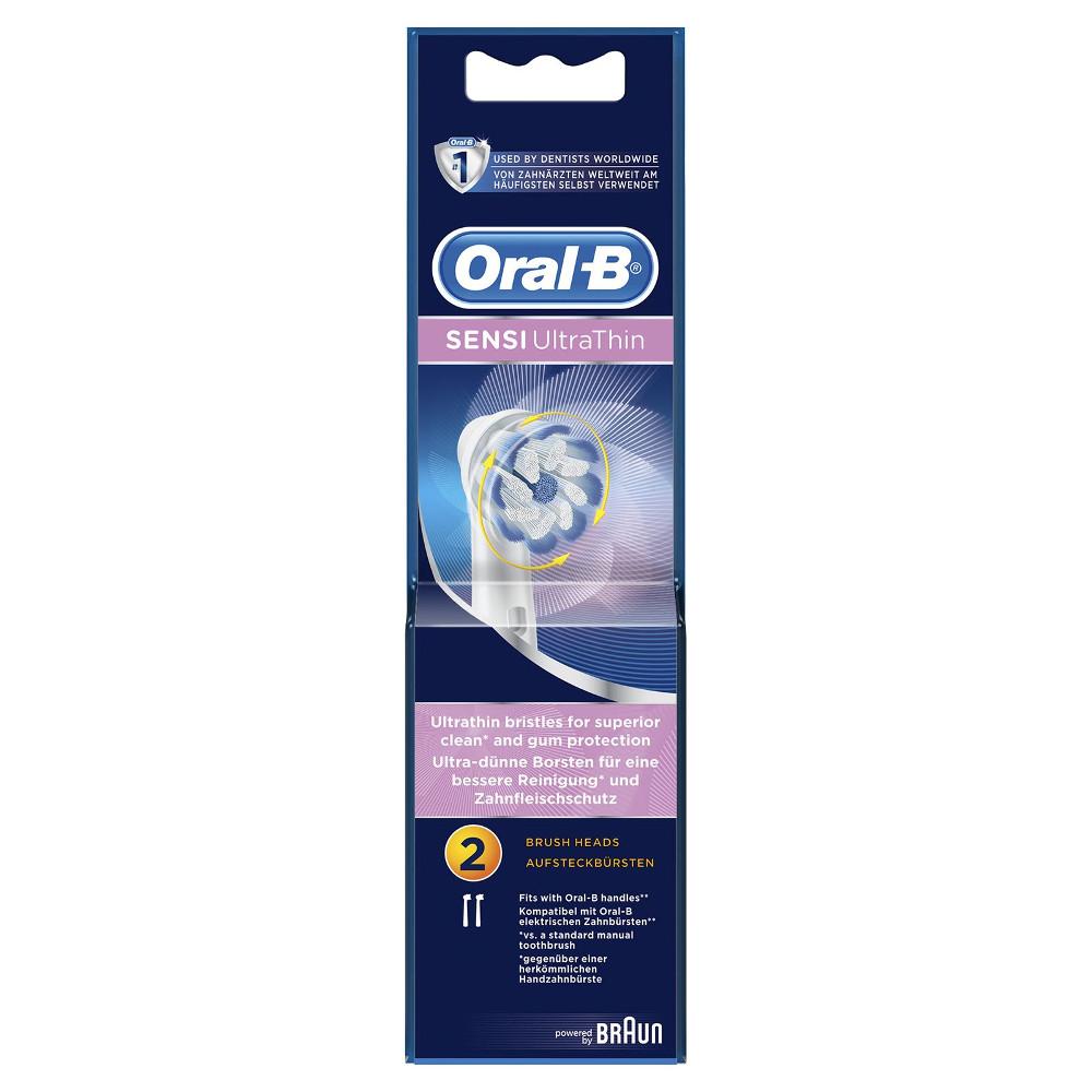 ORAL B Sensi Ultra Thin 2 Ανταλλακτικές Κεφαλές με Πολύ Λεπτές Ίνες για Ανώτερο Καθαρισμό 2τμχ