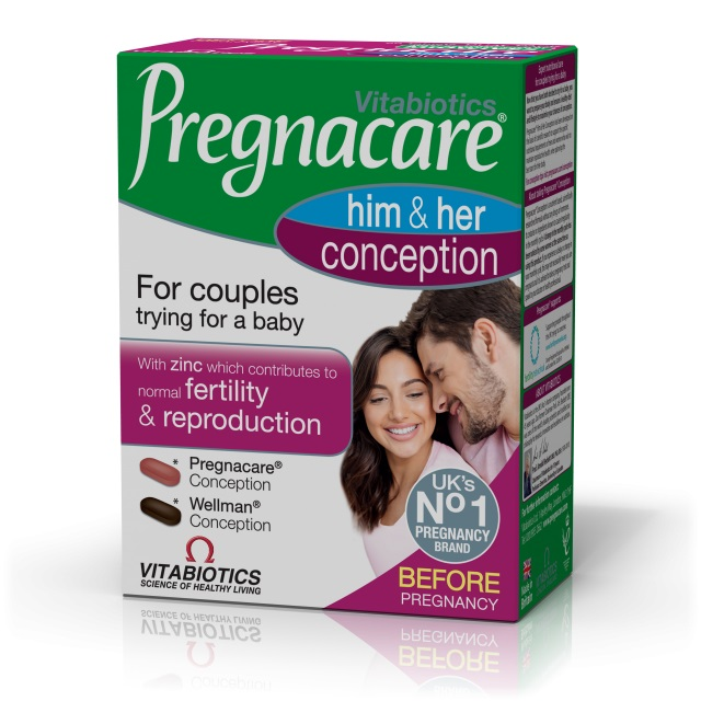 VITABIOTICS Pregnacare Him & Her Conception - 60tabs