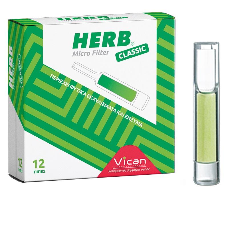 VICAN HERB Micro Filter Classic - 12τμχ