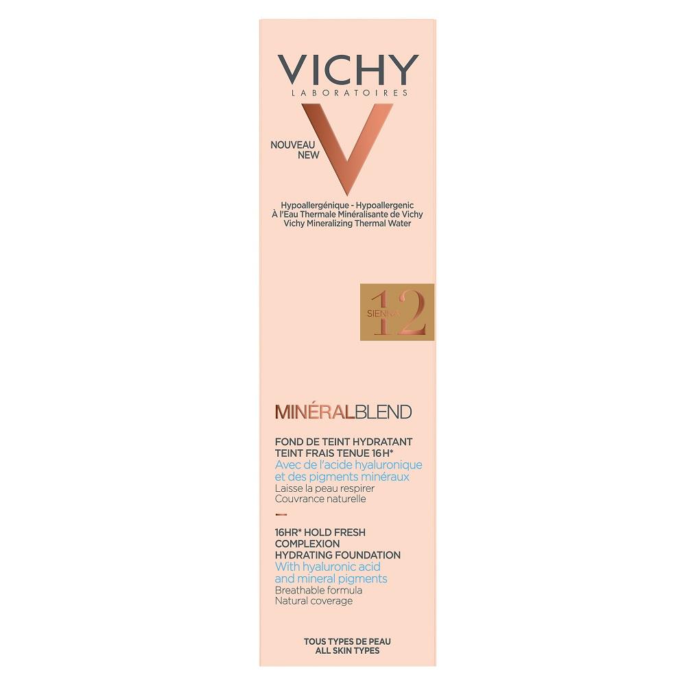 VICHY MineralBlend Hydrating Fluid Foundation (12-Sienna) - 30ml