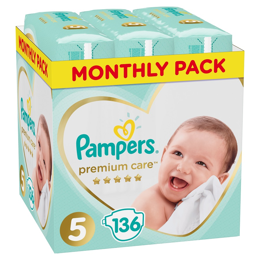 PAMPERS Premium Care No 5 (11-16kg) Monthly Pack - 136τμχ