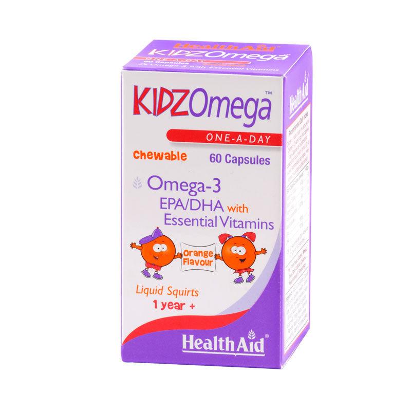 HEALTH AID Kidz Omega - 60μασώμενες κάψουλες