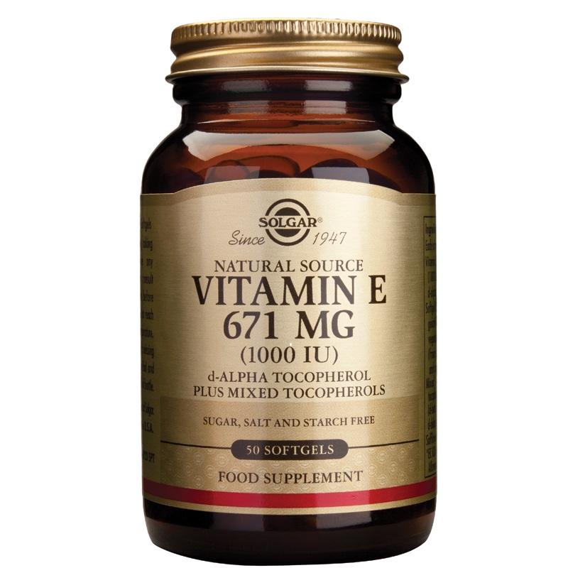 SOLGAR Vitamin E Natural 1000IU - 50softgels