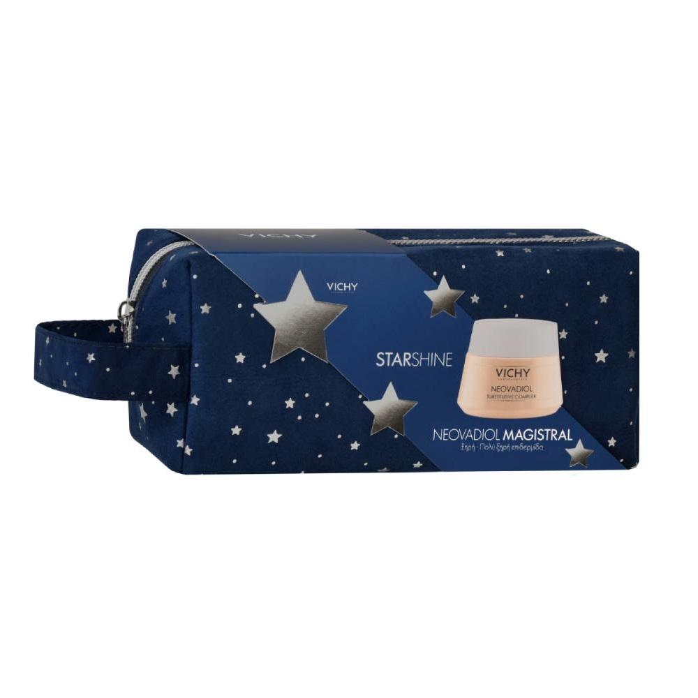 VICHY Starshine Neovadiol Magistral για Ξηρές, Πολύ Ξηρές Επιδερμίδες- 50ml με Δώρο Γιορτινό Νεσεσέρ