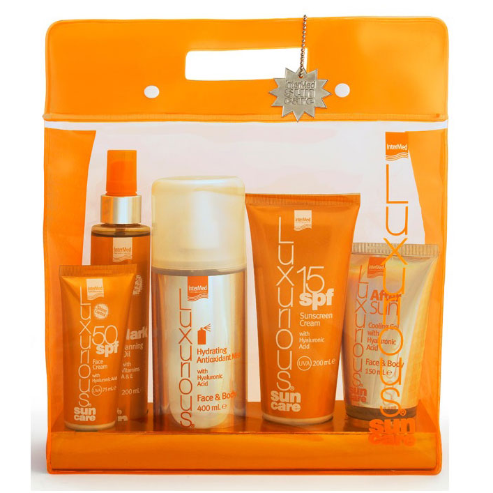 INTERMED Luxurious Suncare Medium/Low Protection Pack, Πακέτο 5 Προϊόντων