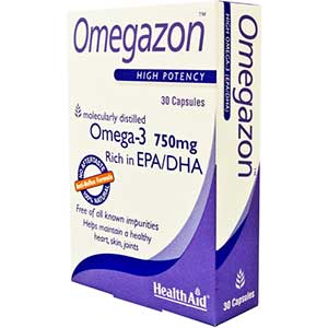 HEALTH AID Omegazon, Omega 3 Fish Oil - 30caps