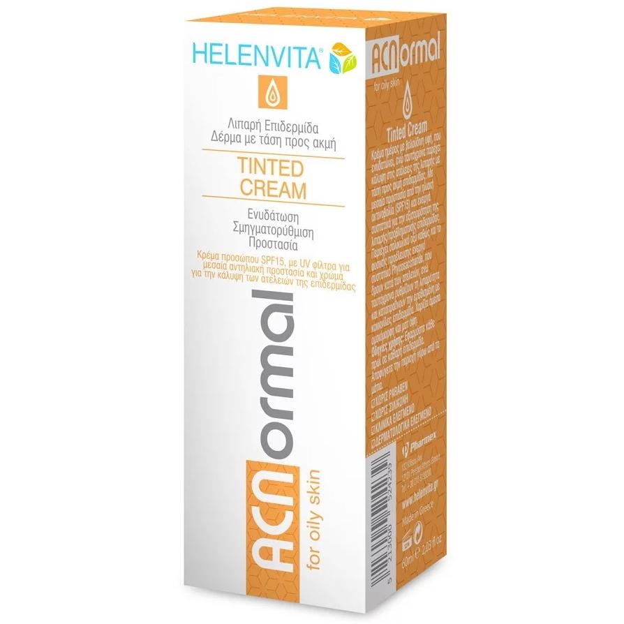 HELENVITA ACNormal Tinted Cream-Κρέμα Προσώπου με Χρώμα για Λιπαρό Δέρμα με Ακμή 60ml