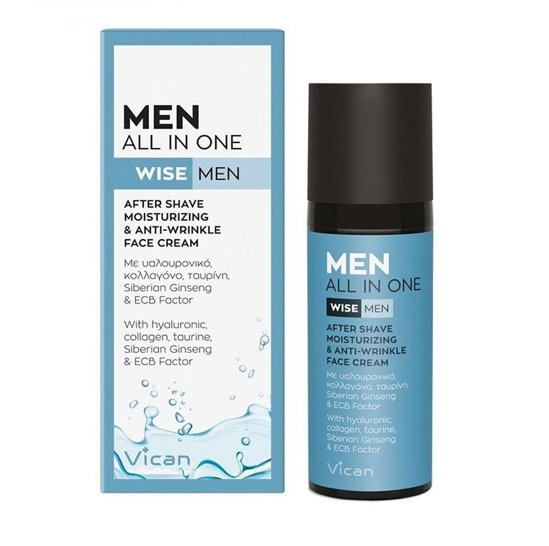 VICAN Wise Men All in One After Shave & All Day Face Cream - 50ml
