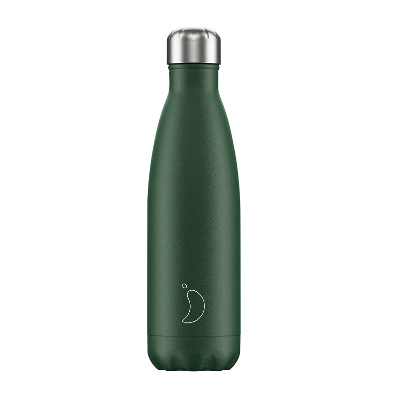 CHILLYS BOTTLES Μπουκάλι- Θερμός Matte Green - 500ml