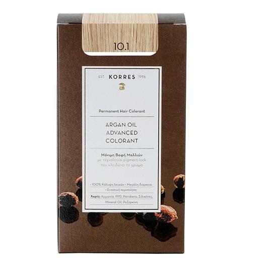 KORRES Βαφή Argan Oil  10.1 Ξανθό Πλατίνας Σαντρέ - 50ml