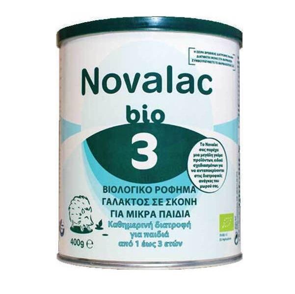 NOVALAC BIO 3, Βιολογικό Ρόφημα Γάλατος σε Σκόνη για Παιδιά 1 έως 3 ετών - 400gr