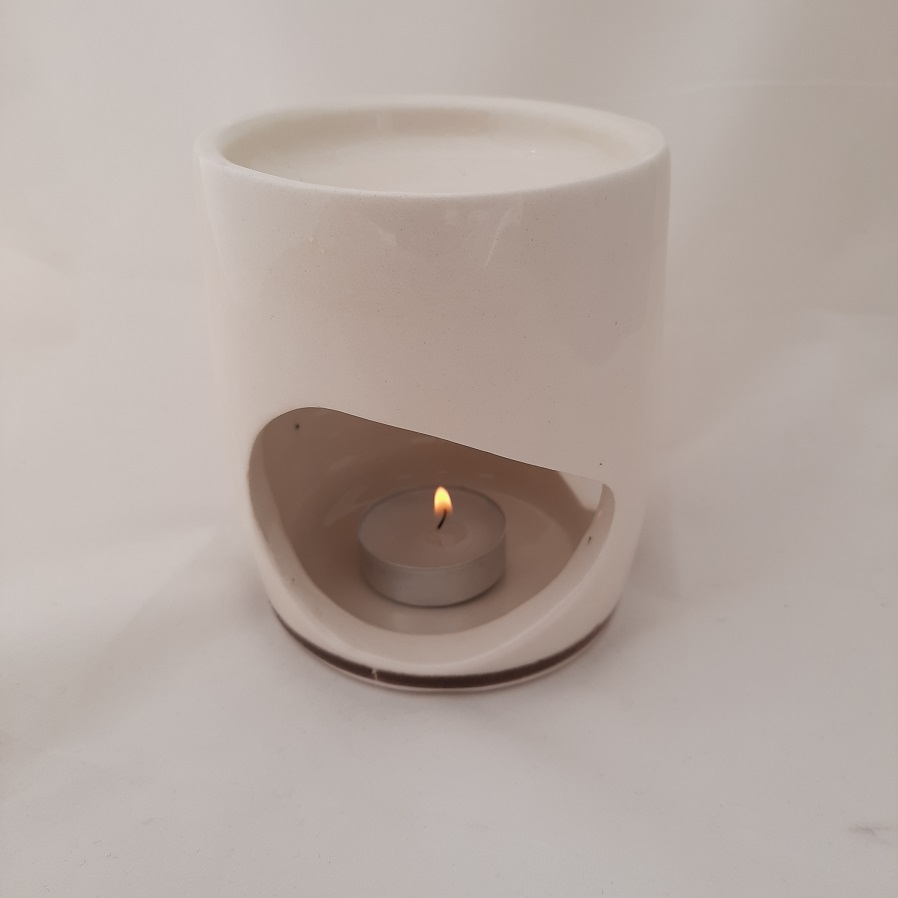 Χειροποίητη Συσκευή Καύσης Αιθέριων Ελαίων MINIMAL Άσπρη