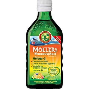 MOLLER΄S Μουρουνέλαιο Cod Liver Oil Γεύση Φρούτων - 250ml