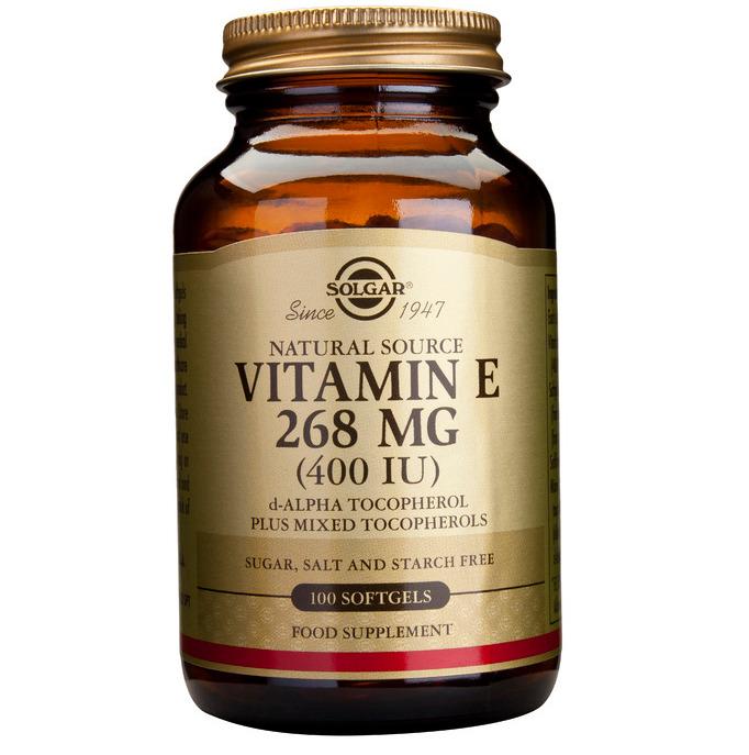 SOLGAR Vitamin E 268mg 400IU - 100softgels