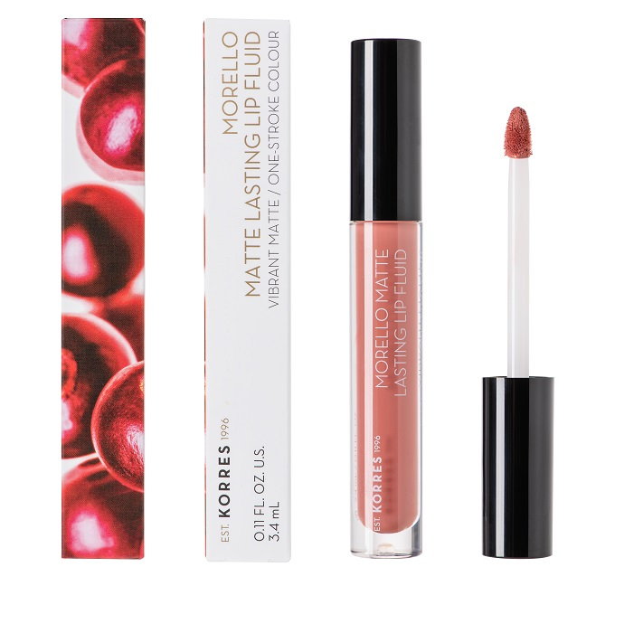 KORRES Morello Matte Lasting Lip Fluid, 06 Romantic Nude - 3.4ml