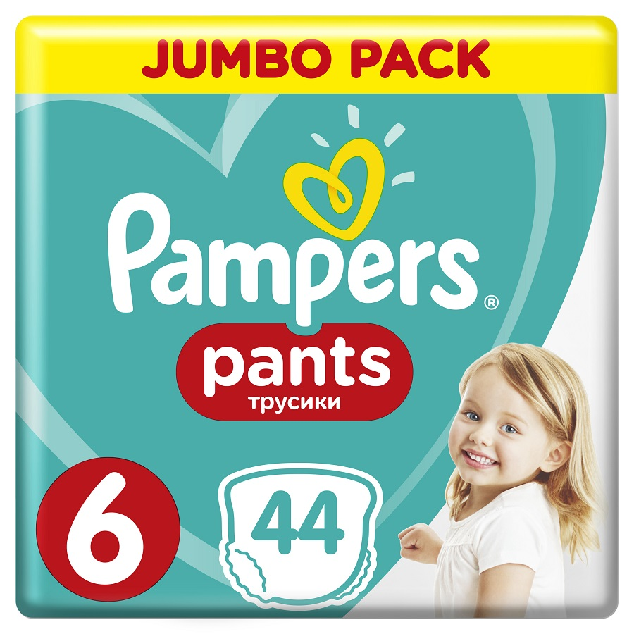 PAMPERS Pants No 6, Extra Large 15kg+ Jumbo Pack - 44τμχ