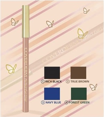COVERDERM Perfect EyeLiner, Μολύβι Ματιών, no. 2 True Brown - 1,5 gr