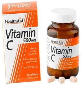 HEALTH AID Vitamin C 500mg - 60 μασώμ. δισκία
