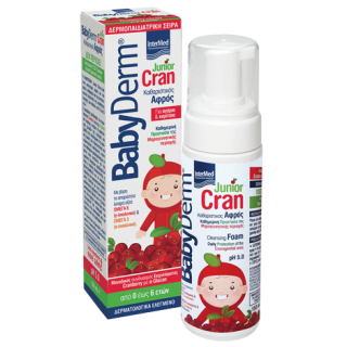 INTERMED BabyDerm Junior Cran Foam,Αφρός Καθαρισμού της Μηρογεννητικής περιοχής - 150ml