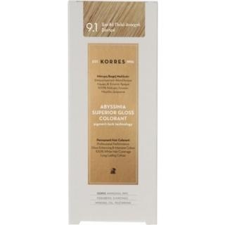 KORRES Βαφή Μαλλιών Abyssinia Superior Gloss Colorant Ξανθό Πολύ Ανοιχτό Σαντρέ 9.1 50ml