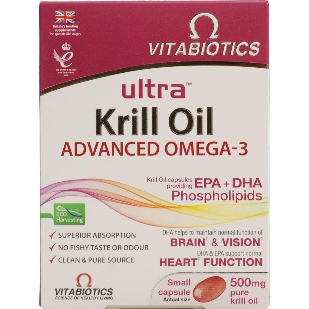 VITABIOTICS Ultra Krill Oil 500mg - 30caps