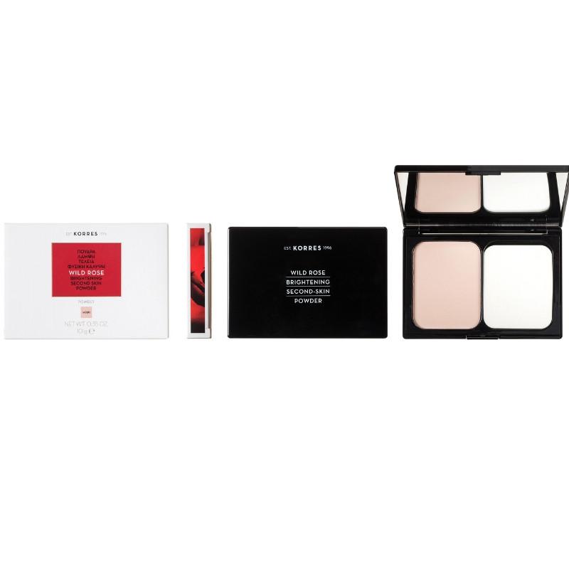 KORRES Άγριο Τριαντάφυλλο Brightening Second Skin  Powder- Πούδρα για Λάμψη & Φυσική Κάλυψη WRP1 10g