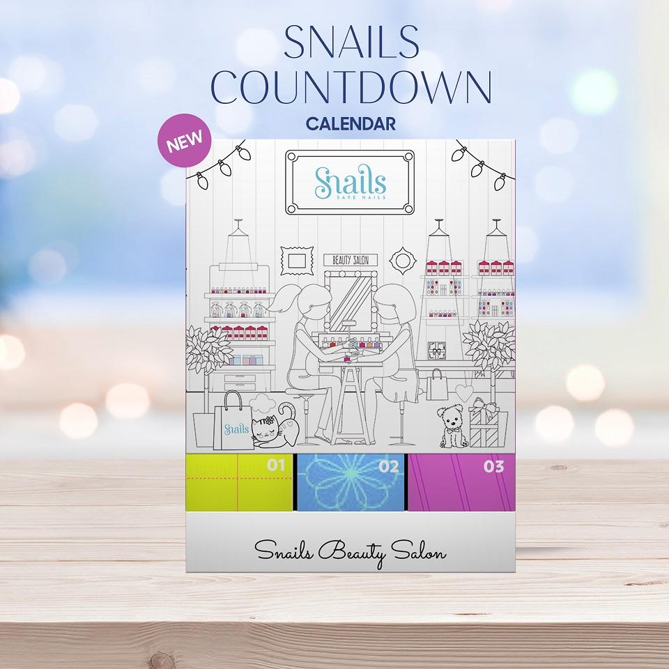 SNAILS Countdown Calendar, Γιορτινό Ημερολόγιο με Ένα Δώρο Κάθε Ημέρα - 24 προϊόντα