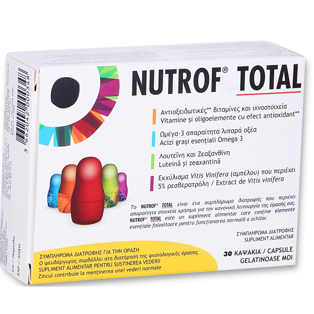 THEA SYNAPSIS Nutrof Total Συμπλήρωμα Διατροφής για την Καλή Λειτουργία της Όρασης 30 caps