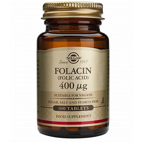 SOLGAR Folacin (Folic Acid) 400μg - 100tablets