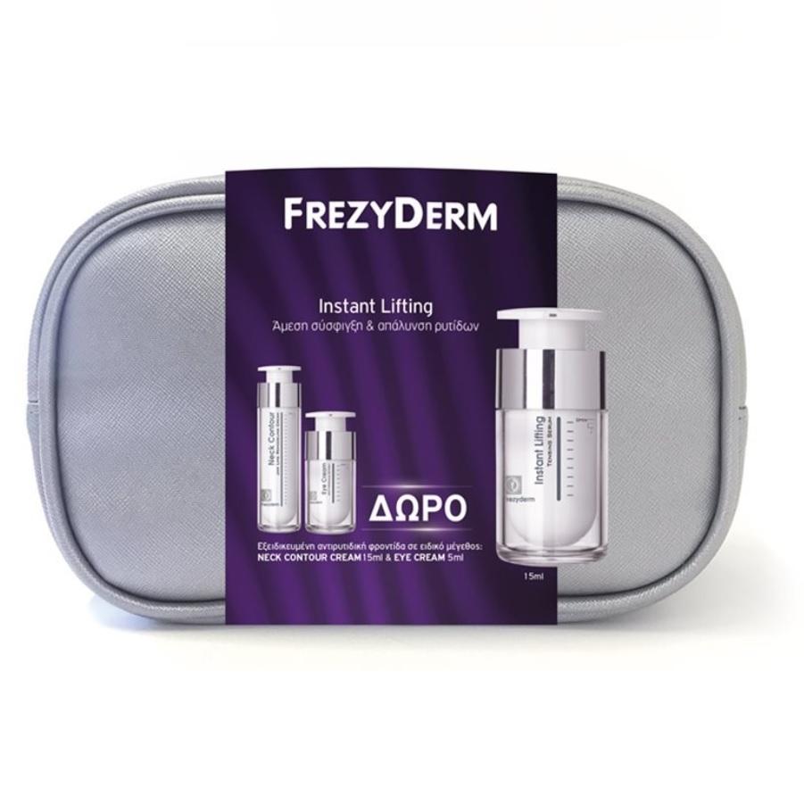 FREZYDERM Νεσεσέρ Instant Lifting Serum - 15ml & Δώρο Neck Contour Cream- 15ml & Eye Cream - 5ml