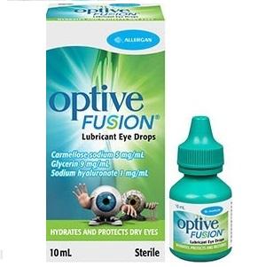 ALLERGAN Optive Fusion Οφθαλμικές Σταγόνες - 10ml