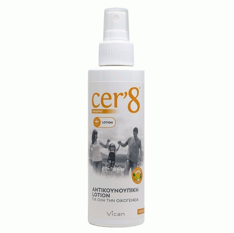VICAN CER8 Αντικουνουπική Lotion 125ml