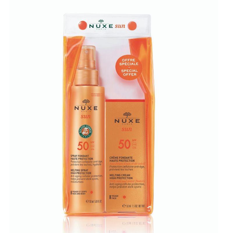 NUXE Σετ Melting Spray High Protection SPF50, Αντιηλιακό Αντιγηραντικό Σπρέι -150ml & Melting Cream Anti Age High Protection SPF50 Αντιηλιακή Αντιγηραντική Κρέμα - 50ml