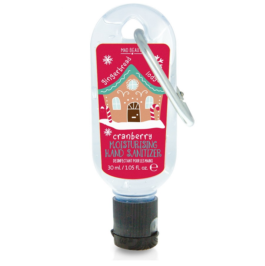 MAD BEAUTY Clip & Clean, Αντισηπτικό Τζελ Χεριών, North Pole, Cranberry- 30ml