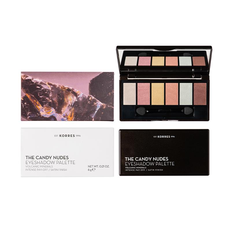 KORRES The Candy Nudes Eyeshadow Palette, Σκιές Ματιών - 6gr