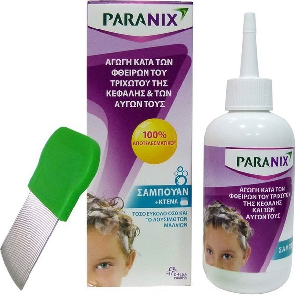 PARANIX Shampoo Σαμπουάν Αγωγή Κατά των Φθειρών του Τριχωτού της Κεφαλής & των Αυγών 200ml