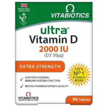 VITABIOTICS Ultra Vitamin D3 2000iu 96 tabs