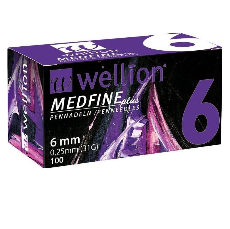 WELLION Βελόνες Πένας Ινσουλίνης Wellion Medfine plus 6mm 0,25mm (31G) - 100τεμ